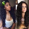 Полный Шнурок Парик Человеческих Волос Для Черных Женщин Бразильский Девственные Волосы свободные Вьющиеся Парик Бесклеевого Парик Фронта Шнурка С Ребенком волос