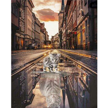 YIKEE Алмазная вышивка Чеширский Кот ручной рукоделие DIY мозаика горный хрусталь картины отметку в Y100