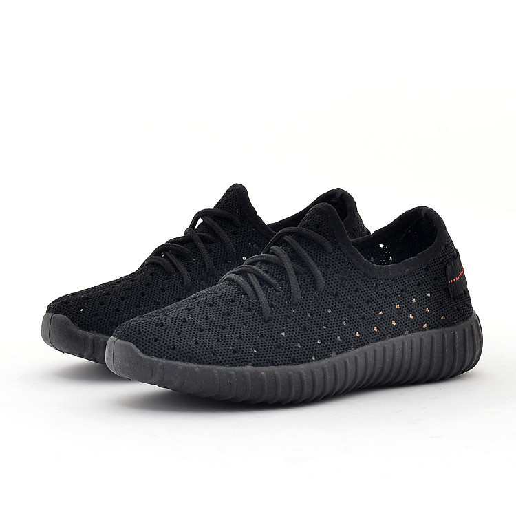 Breathable flying woven casual shoes fashion trend mesh boys and girls hollow sneakers