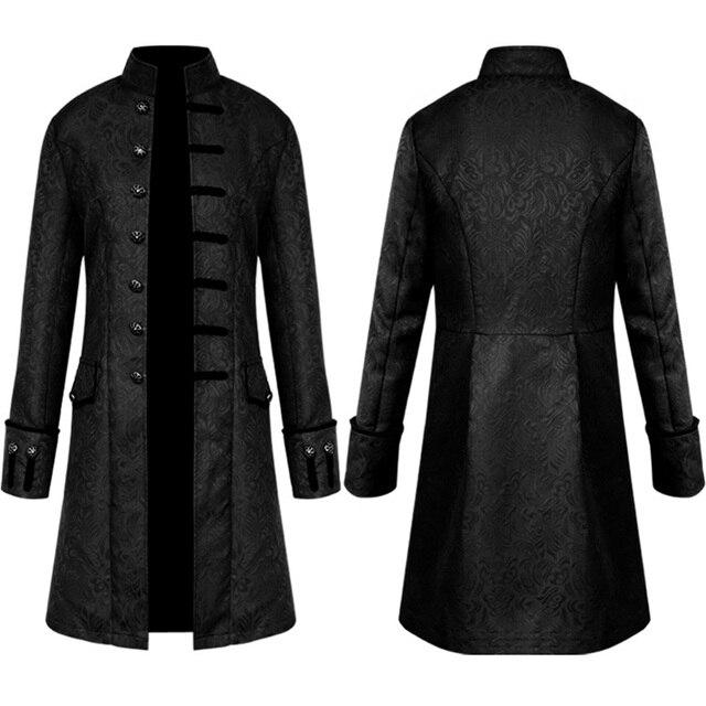 6d127e4087949 Steampunk Luxury Long Sleeve Windbreaker Suit Outwear Vintage Mens Gothic  Brocade Jacket Winter Frock Coat Wedding Jackets