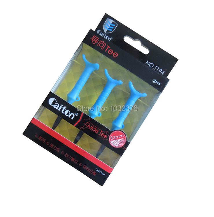 Free Shipping New golf guide tees,Rubber tee 83mm,3pcs in box