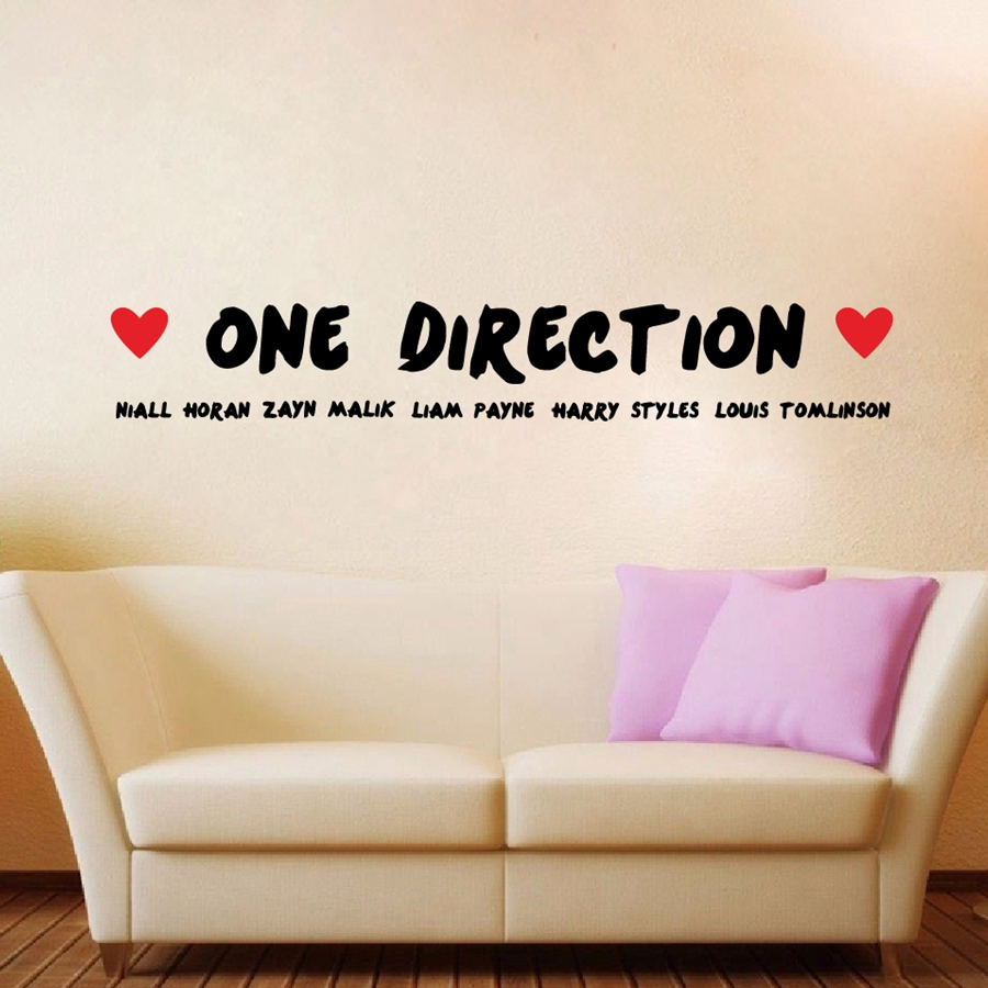 Fashion Large Size One Direction Vinyl Wall Sticker Niall Horan ,Zayn Malik  ...Wall Decals For Living Room/Bedroom Decoration In Wall Stickers From  Home ... Part 80