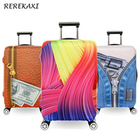 REREKAXI Luggage Suitcase Colorful Protective Cover For 18 To 32 Inch Trolley Elastic Dust Bags Case