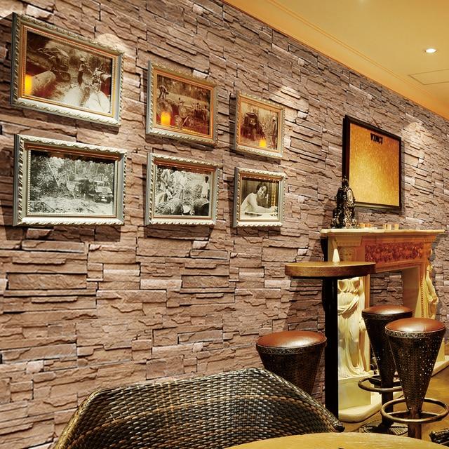 حجر الطوب جدار خلفية لفة papel دي parede ثلاثية الأبعاد غرفة المعيشة حائط الخلفية فن الديكور ورق حائط ST-1031 6