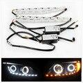 2 х 20 дюймов/50 см Белый/Янтарный Горки LED Knight Rider Полосы Света для Фар Последовательного Flasher DRL Поворотов Стайлинга Автомобилей