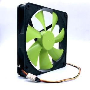 Image 3 - New 140mm fan DF1402512SEL DC 12V 0.12A sleeve 3 Pin 140x140x25mm pc case Server cooling Fan 1500RPM