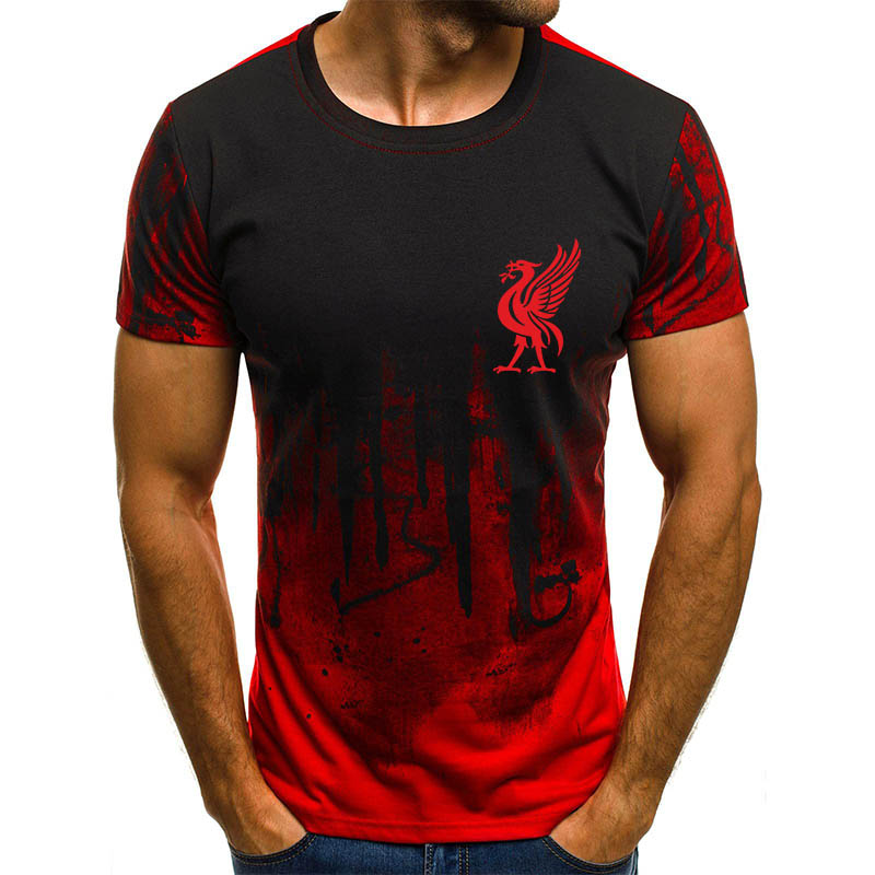 Mo Salah You'll Never Walk Alone Never Give Up Liverpool T Shirt Champions League Final Madrid 2019 O Neck 3D printing T-Shirt(China)