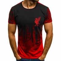 Mo Salah vous ne marcherez jamais seul jamais abandonner Liverpool T Shirt ligue des Champions finale Madrid 2019 O cou 3D impression T-Shirt