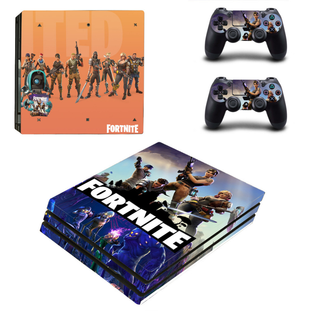 Fortnite Battle Royale PS4 Pro Skin Sticker Decal for Sony PlayStation 4 Console and 2 Controller Skin PS4 Pro Sticker Vinyl