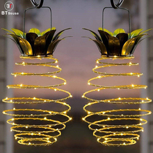 BTgeuse Pineapple Garden Solar Lights,Upgraded Waterproof Outdoor LED Lantern String Night Light for Home Patio