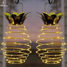 BTgeuse Pineapple Garden Solar Lights,Upgraded Waterproof Outdoor LED Lantern String Night Light for Home Patio