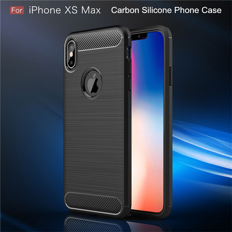 For iPhone 6 6s Case Shockproof Soft Carbon Silicone Phone Case For iPhone 7 8 Plus or iPhone x xr xs max Full Protective in Fitted Cases from Cellphones Telecommunications