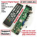 Z. VST.3463.A1 Apoio Sinal Digital DVB-C DVB-T/T2 Universal LCD Placa de Driver de Controlador de TV Melhor do que V56 Russa língua