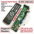 Z. VST.3463.A1 Compatible Con la Señal Digital DVB-C DVB-T/T2 Universal TV LCD Tablero de Conductor Del Controlador Mejor que V56 Ruso idioma