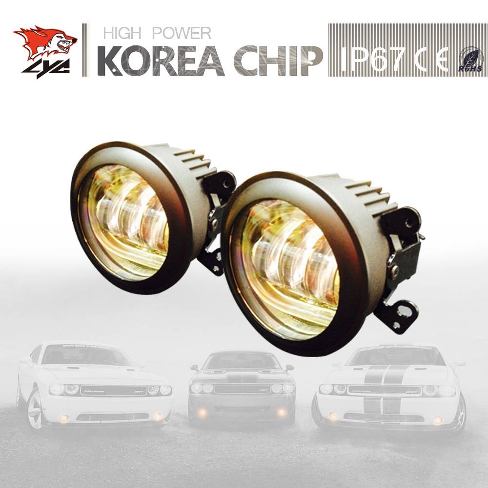 Пар лицей 1 светодиодные фонари для джип Вранглер JK в авто светодиодные Противотуманные фары освещение аксессуары свет DRL автомобиля Сид 1800lm Лампа