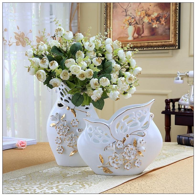 Mariposa de cer mica adornos florero artesan as casa for Adornos para la casa