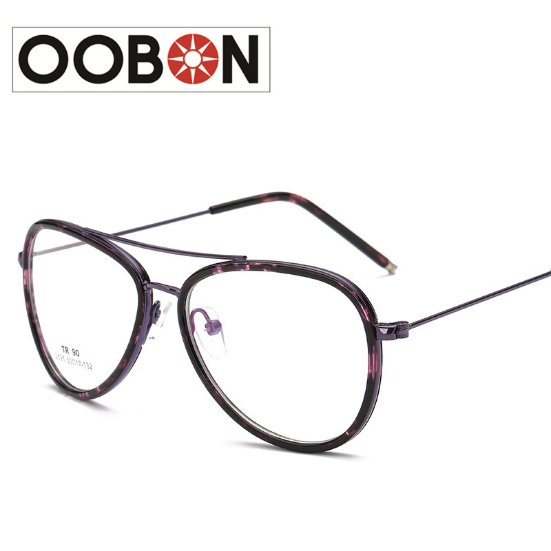 bbb497371c OOBON Brand Designer High Quality Small fresh Women Glasses Frame TR90  Diopter Computer Glasses Men Gold Round Black Frame-in Eyewear Frames from  Apparel ...
