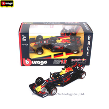Bburago 1:43 Ferrari Red BullRB13 33 Simulation alloy super toy car model For  with Steering wheel control front steering