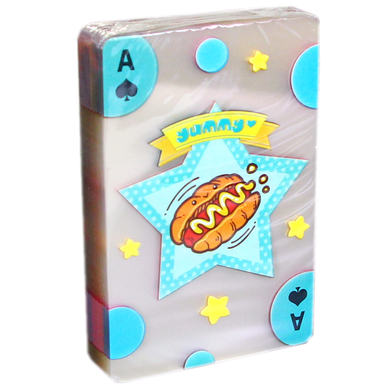 Transparent PVC Foodie Children 39 s Educational Poker Plastic Crystal Waterproof Non slip Entertainments Playing Cards Board Games in Playing Cards from Sports amp Entertainment