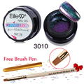 Elite99 Soak off Changing Color Chameleon UV Gel Nail Lacquer Brush Pen Soak Off 5ml Chameleon Gel With Painting Pen