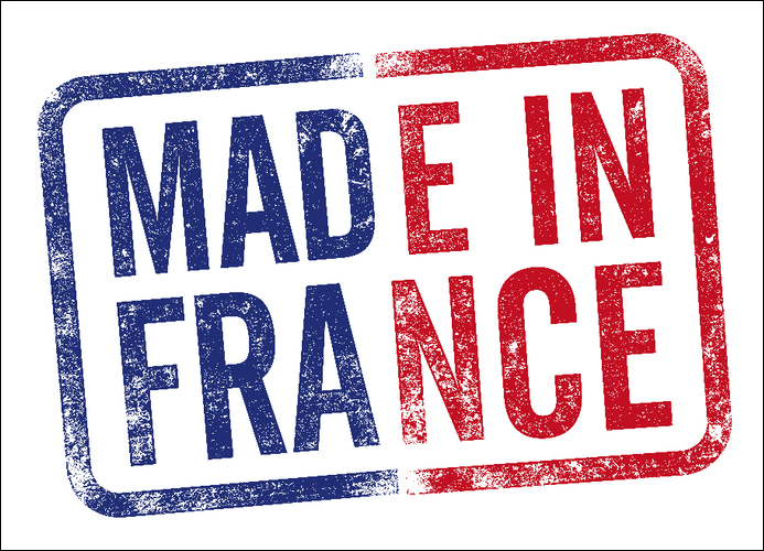 800pcs 25x18mm MADE IN FRANCE self-adhesive paper label sticker for french factory, Item No. FA29
