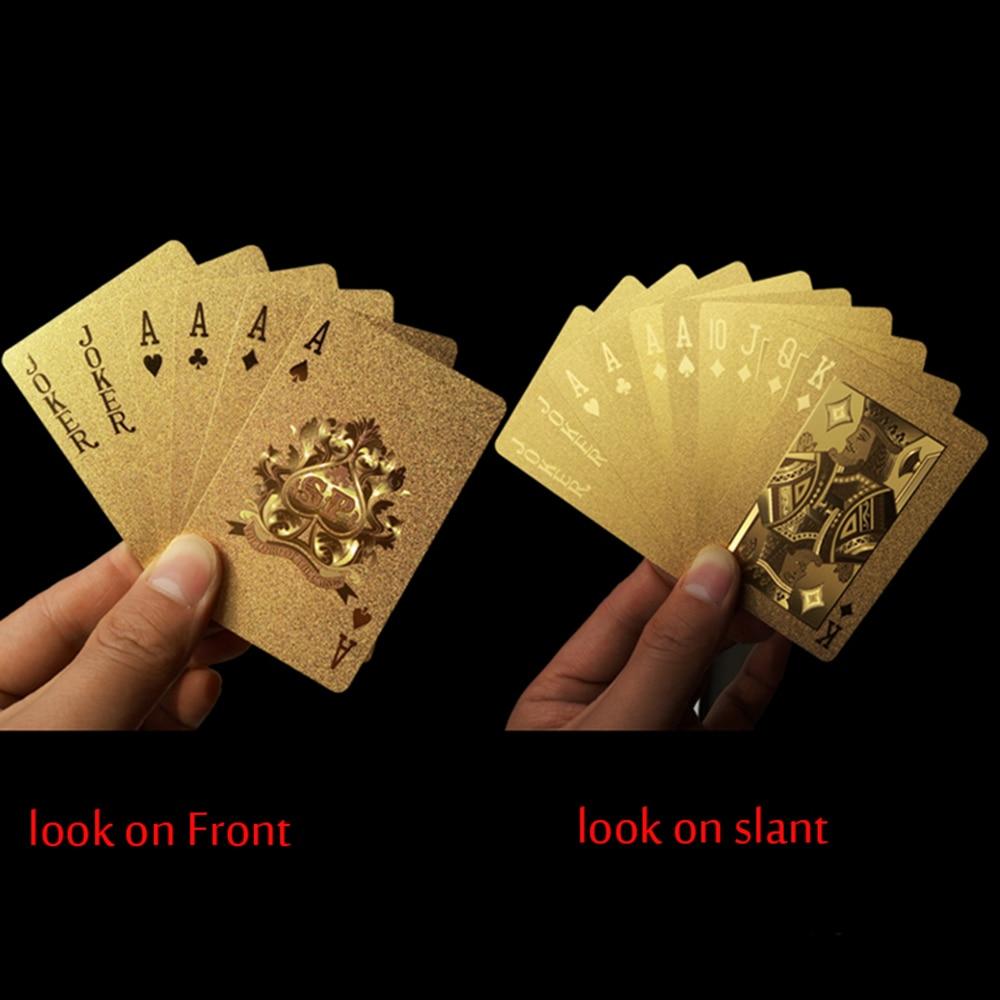 1-Set-Golden-Playing-Cards-Deck-gold-foil-poker-set-Magic-card-24K-Gold-Plastic-foil-poker-Durable-Waterproof-Cards-4