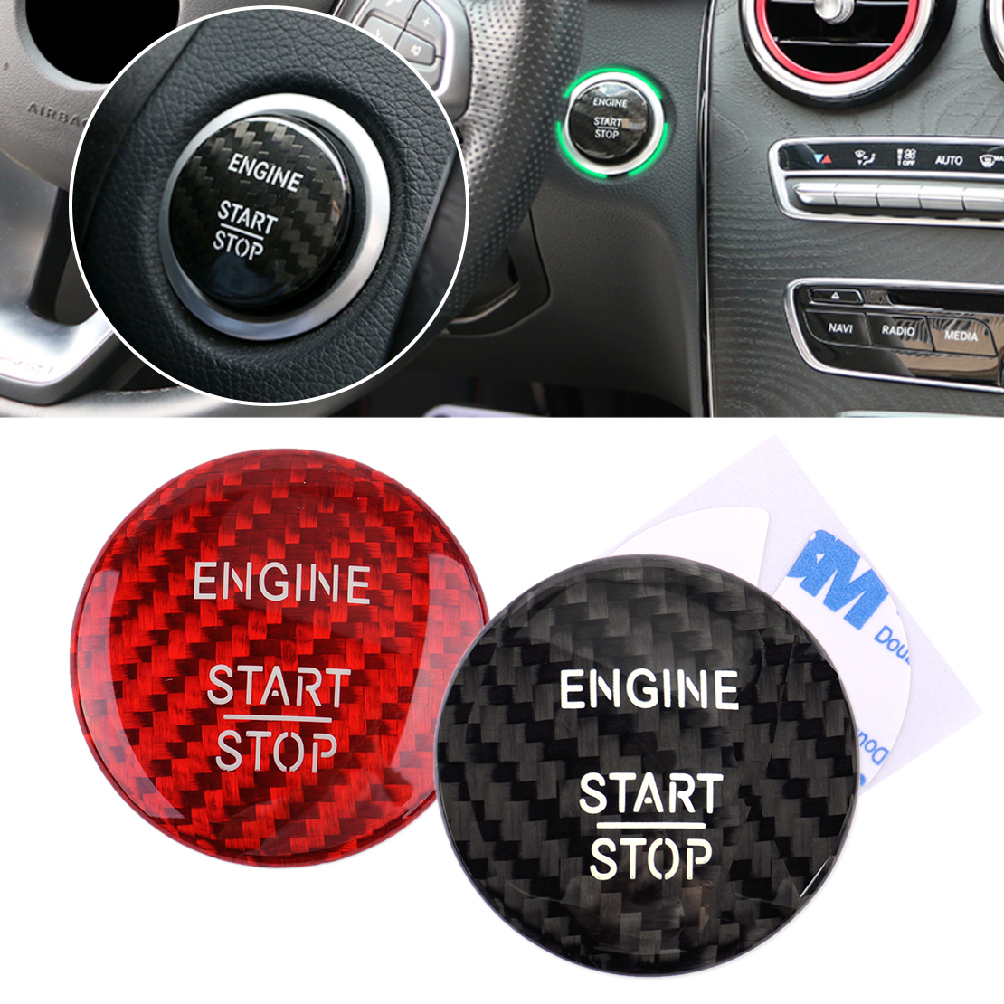 beler Carbon Fiber Start Stop Engine Push Button Key Trim Cover Fit for Mercedes Benz E Class W212 E180 E200 E260 E300 E320 E400 dhl shipping 23pc x error free led interior light kit for mercedes for mercedes benz e class w212 e350 e400 e550 e63amg 09 15