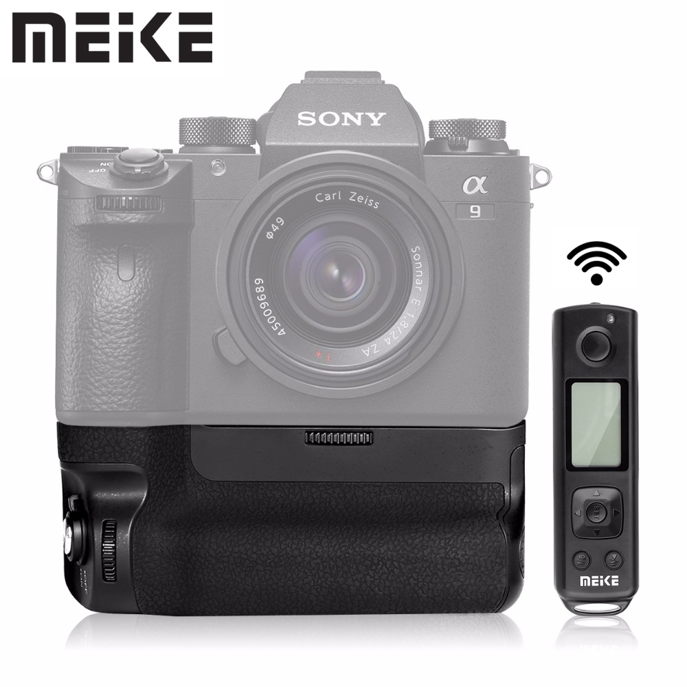 Meike MK-A9 Pro Battery Grip with 2.4G Remote Control for Sony A9 A7RIII Camera Vertical-shooting Function