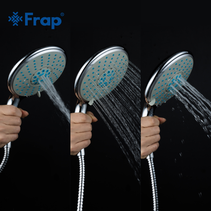 Frap Third Gear Adjustment Round Hand Shower Head Chrome Finished Rain Spray Bathroom Accessories F29