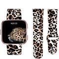 Ремешок для часов Fitbit versa  силиконовый ремешок с леопардовым принтом для замены