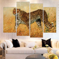 New Yellow Leopards Oil Painting HD Wall Modular Pictures Art Print Painting On Canvas For Living