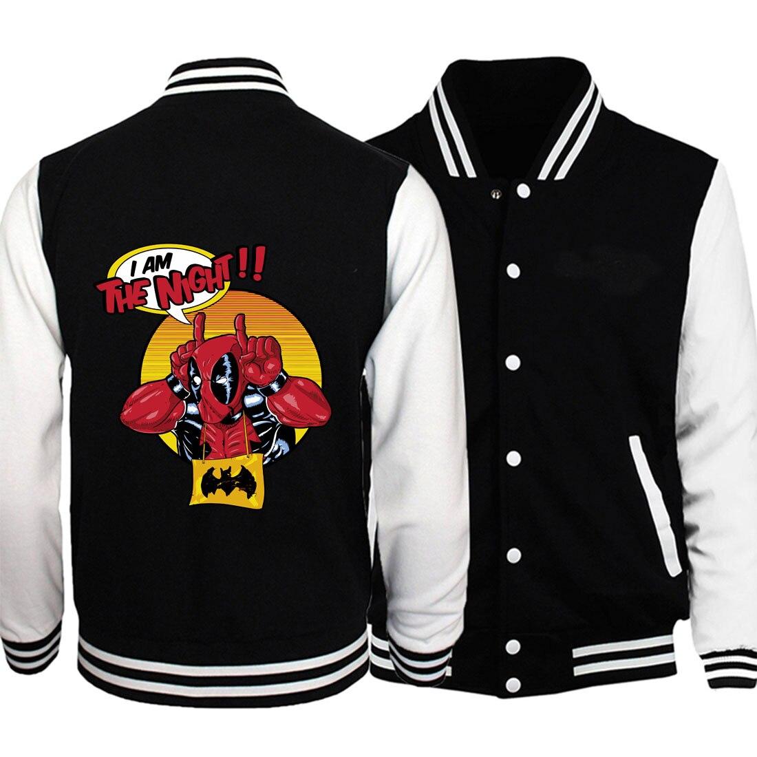 funny deadpool printing sweatshirts men 2019 new stranger things baseball jackets plus size fitness coats fashion hoodies S-5XL