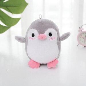 Image 3 - Kawaii 4 couleurs doux 12CM env. Mini pingouin en peluche pendentif en peluche, porte clés pingouin cadeau fête de mariage en peluche