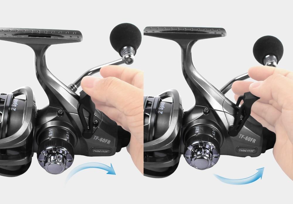 RoseWood 2 Speed 6.31 4.31 Front And Real Dual Braking Spinning Reel 12+1 S.S Bearings Carp Fishing Reels + Spare Spool  (10)