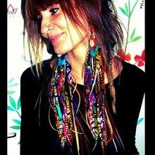 BRW 2017 Fabric Handmade Earrings with Tassel Boho Long Earrings African Tribal Ankara Handmade Jewelry African Earrings WYB129