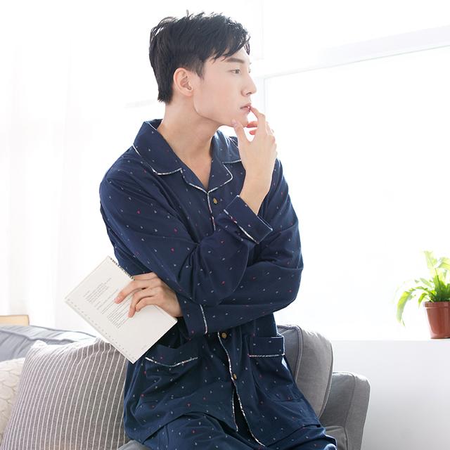 2016 de invierno de lujo pijamas hombres chaqueta de punto ropa de noche salón de seda de manga larga de raso pijamas para hombre de los hombres pijamas set plus