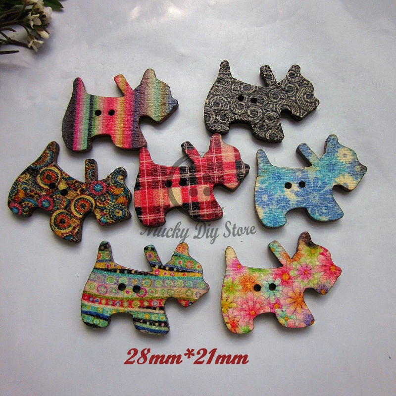 Buy 50pcs retro mixed printing dogs for Decorative pins for crafts