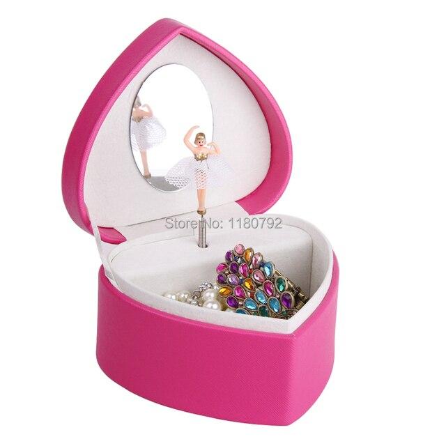 ROWLINGROSE Musical Jewelry Box Beads Ring Storage Box Spinning