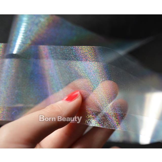 8pcs/pack New Transparent Nail Foils Starry Sky Glitter Nail Art Transfer  Sticker Paper (4cmX120cm each piece)