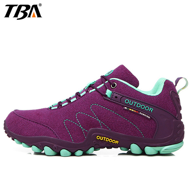 TBA Lovers Hiking Shoes For Women Men Outdoor Athletic Sport Breathable Anti Slippery Climbing Women's Sneakers Woman Man Brand 2017 women hiking sneakers shose lace up low cut sport shoes breathable hiking shoes women athletic outdoor shoes quick drying