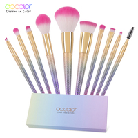 New Arrival 10PCS Makeup Brush Set Fantasy Set Professional High Quality Foundation Powder Eyeshadow Kits Gradient
