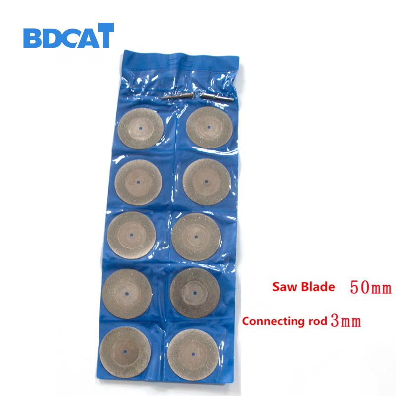 10pcs 16-50MM Diamond Grinding Cutting Wheel Disc Sharpener Abrasive Disks With 2X Connecting Shank For Dremel Rotary Tools