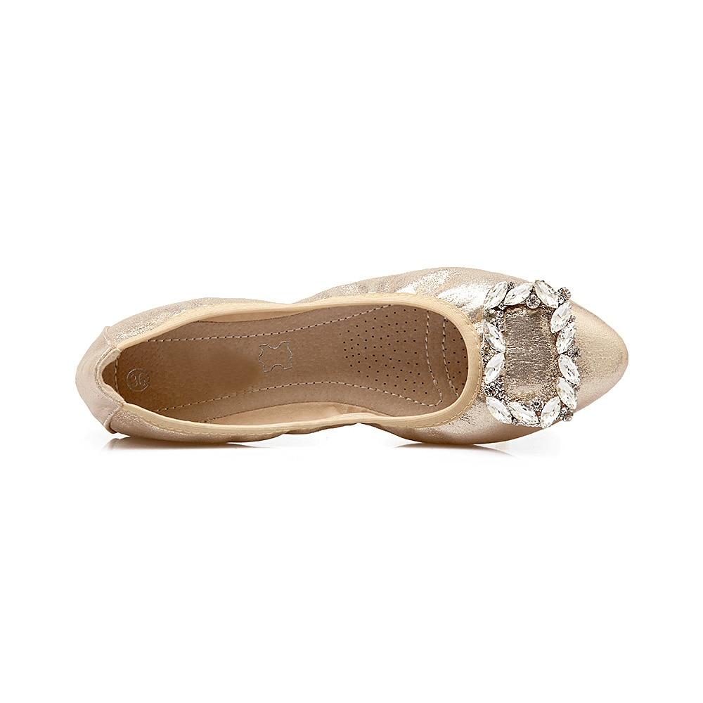 Semelles Cristal Mode Doux Appartements Noir Femmes E744 argent Boucle Yaerni La Confort L'automne or Glissent Sur Chaussures Taille Plus Pliable Mocassins qAwfY4p