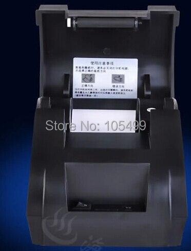 Freeshipping noir port usb 58mm thermique imprimante de reçus POS imprimante à faible bruit. imprimante thermique