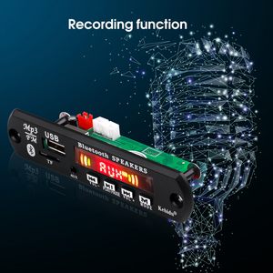 Image 3 - Kebidu Handsfree MP3 Speler Decoder Boord 5V 12V Bluetooth 5.0 6W Versterker Auto Fm Radio module Ondersteuning Fm Tf Usb Aux Recorders