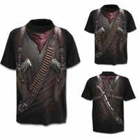 Männer t-shirt o-ansatz Westlichen Cowboy 3D Print Short Sleeve Top