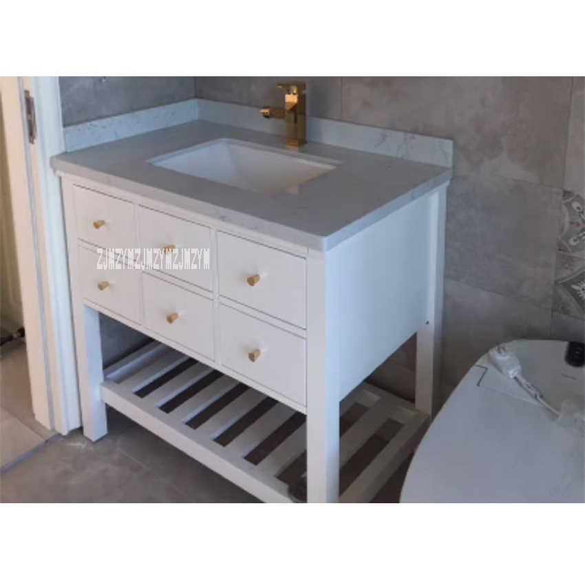 Rubber Wood Bathroom Cabinet