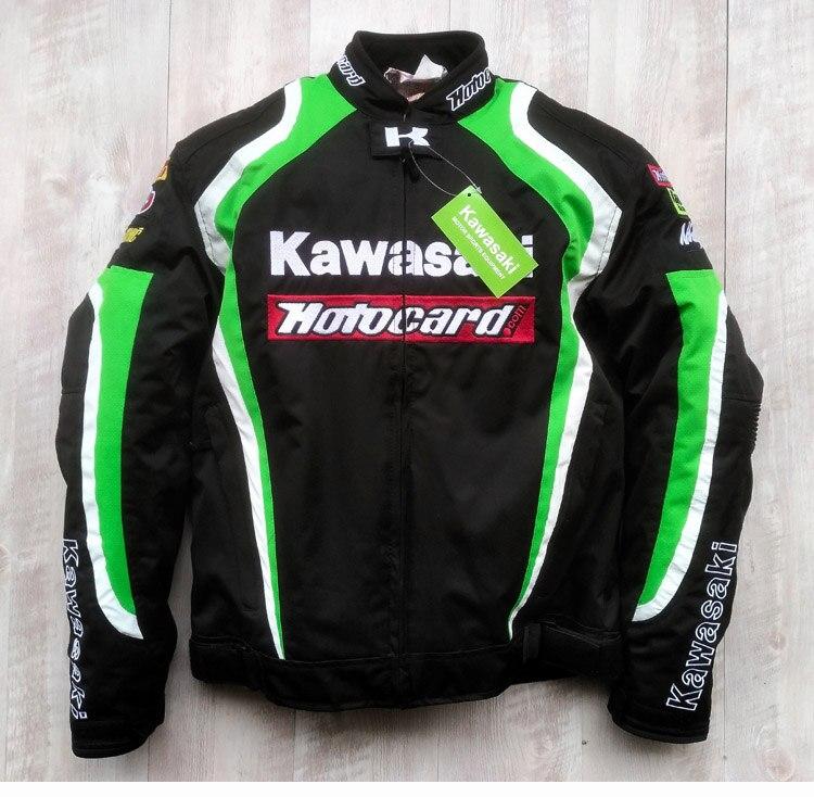 Summer mesh motocross men motorcycle racing chaqueta moto riding clothing for kawasaki men jaqueta motoqueiro jacket armor coat