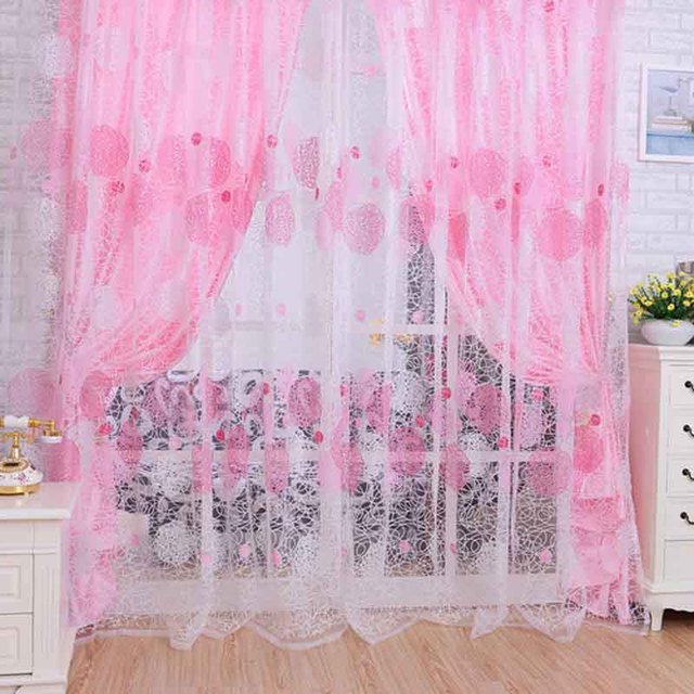 Aliexpress.com : Buy Home Decoration Leaves Pattern Window Voile ...