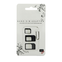 2016 Nano SIM Card Adapter 4 in 1 micro sim adapter with Eject Pin Key Retail